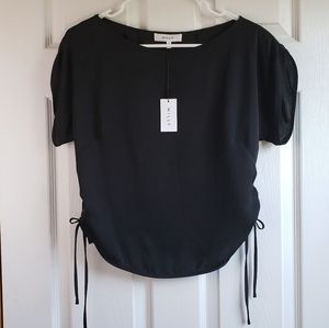 NWT Milly Anthropologie Black Silk Small Top